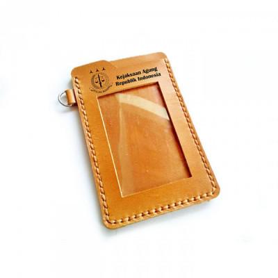 name-tag-id-kulit-asli-logo-kejaksaan-agung-warna-tan-garansi-1-tahun-tempat-id-card