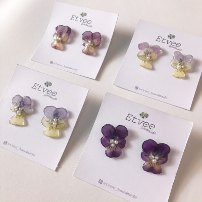 pansy-flower-earring