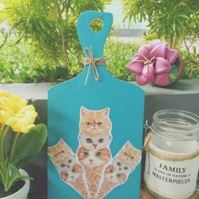 home-dekor-talenan-hias-cone-cats-ukuran-29x14