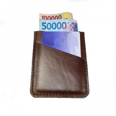 dompet-kartu-kulit-asli-simpel-warna-coklat-slim-wallet