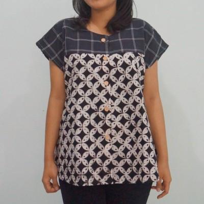 blouse-batik-kawung-hitam-all-size-gelintang-loose-top