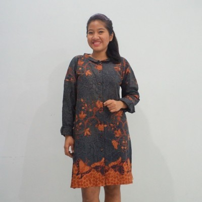 shirt-dress-batik-abu-abu-all-size-gelintang
