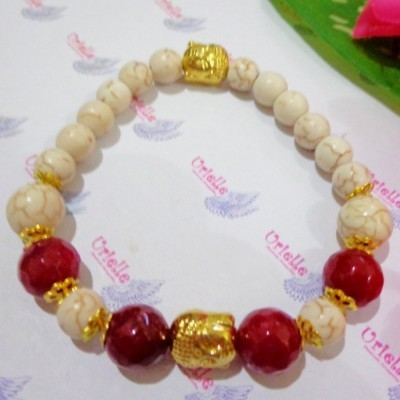gelang-ab28-batu-turquois-red-carnelian-skt-buddha-gold
