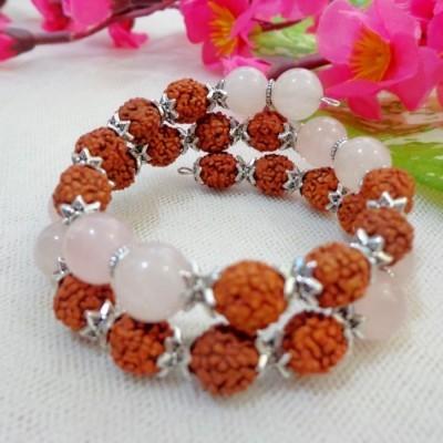 gelang-rudraksha-aa15-batu-rose-quartz