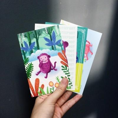 monyet-kezel-mini-art-poster-postcard-size