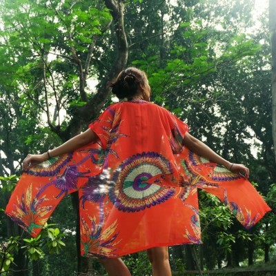 scarlet-orange-kimono