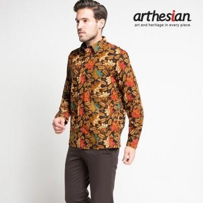 arthesian-kemeja-batik-pria-leaves-star-fruit-batik-printing