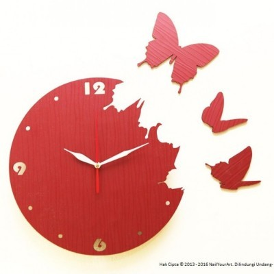 jam-dinding-unik-nail-your-art-artistic-series-butterflyred
