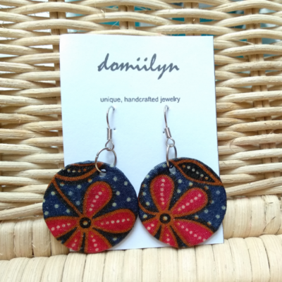 batik-flower-earring-anting-tindik-etnik-juntai-bunga-merah-biru-dongker