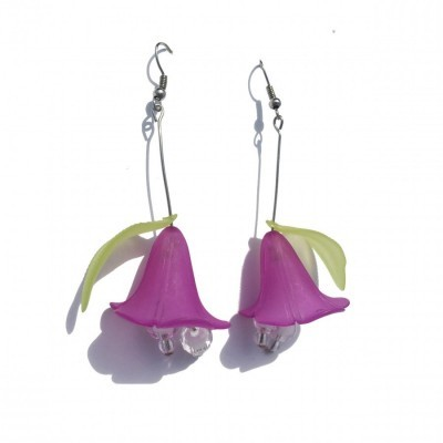 purple-trumpet-earrings