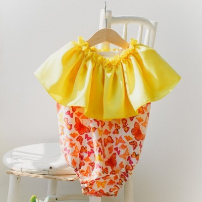 ruffle-neck-boho-romper-yellow-butterfly-