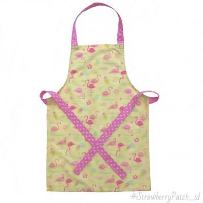 aproncelemek-memasak-anak-flamingo-kuning