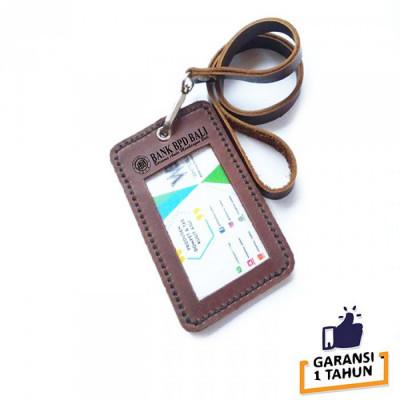 name-tag-id-kulit-asli-logo-bank-bpd-bali-warna-coklat-garansi