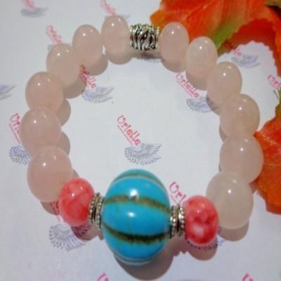 gelang-ab69-batu-rose-quartz-agate-mix-turquois