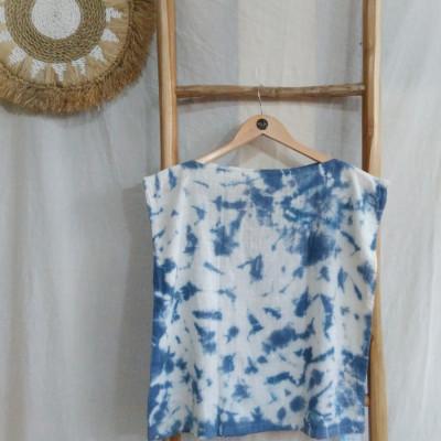 atasan-wanita-crop-top-marble-biru-naya-top