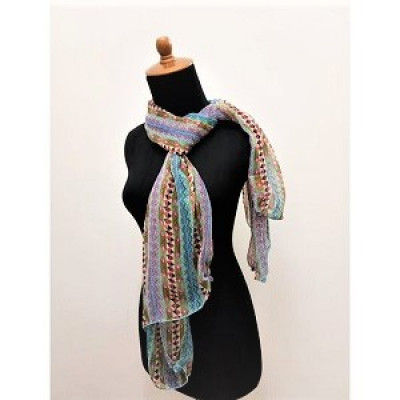 gesyal-sifon-motif-beads-scarf-syal-travelling-wanita-blue-sky-mix
