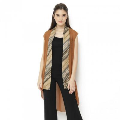gesyal-outer-chiffon-list-batik-cardigan-wanita-coklat