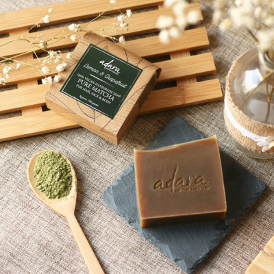 adara-organic-handmade-pure-matcha-soap-lemon-grapefruit