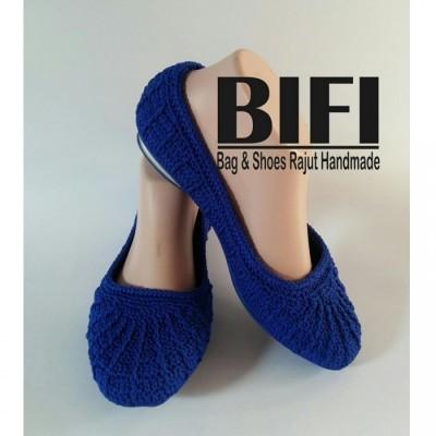 flatshoes-rajut-size-37-biru-elektrik