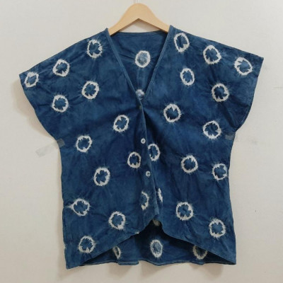 blouse-indigo-jumputan-bulat