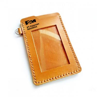 name-tag-kulit-asli-logo-pt.-freeport-indonesia-garansi-1-tahun-tempat-id-card.-gantungan-id-card