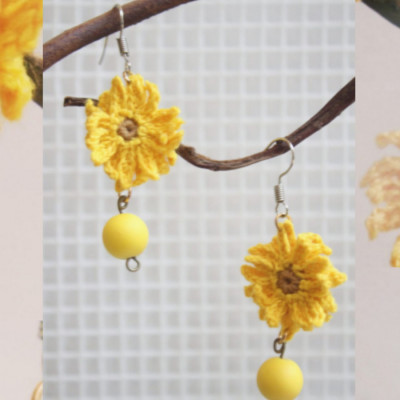 sunflower-earrings