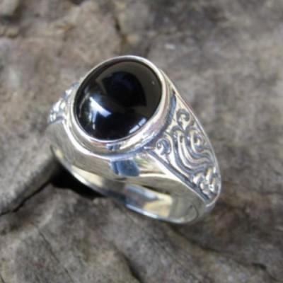 cincin-perak-925-motif-simpel-batu-black-onyk-100332