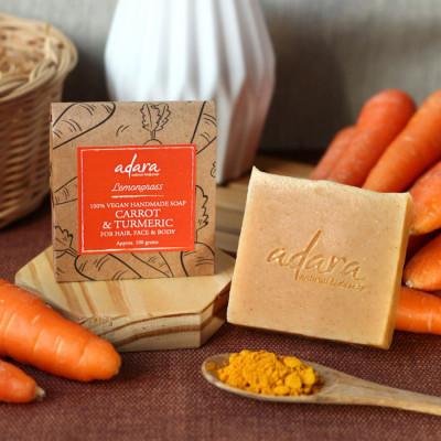 adara-organic-handmade-carrot-turmeric-soap-lemongrass