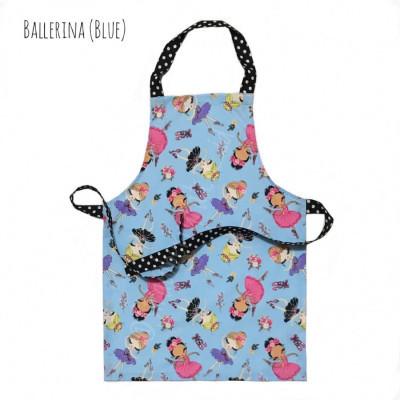 celemek-memasak-anak-kids-apron-ballerina-blue