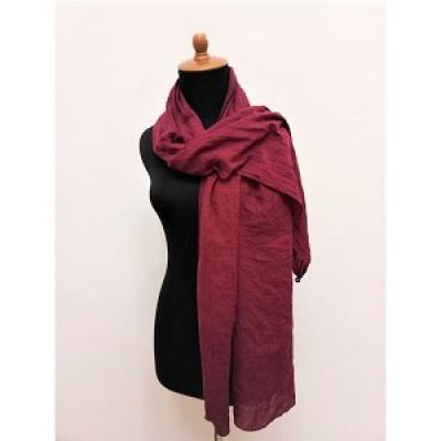gesyal-scarf-travelling-wanita-polos-katun-voile-maroon