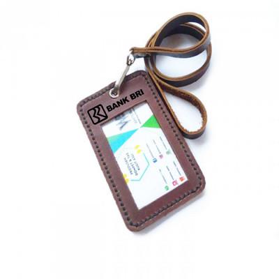 name-tag-id-kulit-asli-logo-bank-bri-warna-coklat-tali-id-card.-gantungan-id-card-