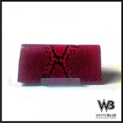 dompet-kulit-panjang-unisex-asli-ular-phyton-model-bifold-warna-merah