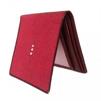 dompet-pria-kulit-asli-ikan-pari-model-bifold-warna-merah-dompet-kulit-asli