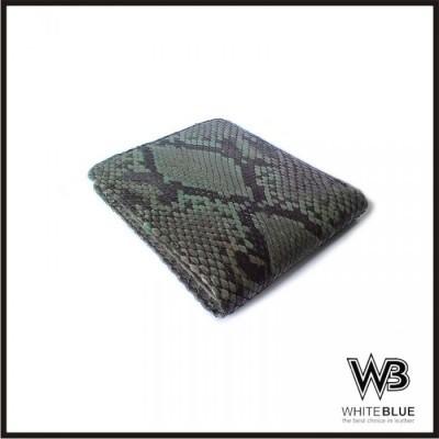 dompet-pria-kulit-asli-ular-phyton-model-bifold-warna-hijau
