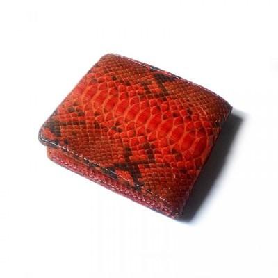 dompet-pria-kulit-asli-ular-phyton-warna-orange-dompet-kulit-asli