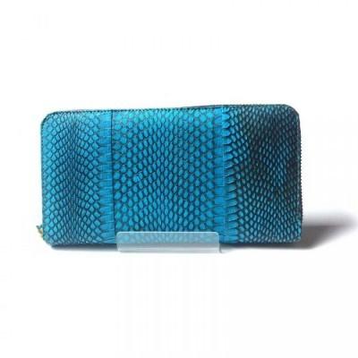 dompet-wanita-kulit-asli-ular-cobra-model-single-zipper-warna-birudompet-wanita-handbagsdompet-kulit-asli