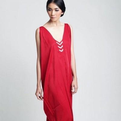 red-satin-boho-dress