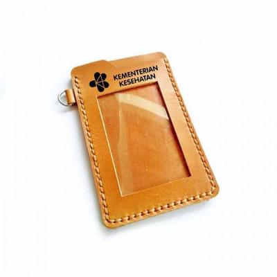 name-tag-id-kulit-asli-logo-kementerian-kesehatan-garansi-1-tahun