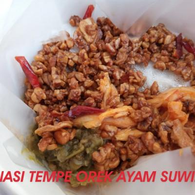 nasi-ayam-suwir-kemangi-tempe-orek