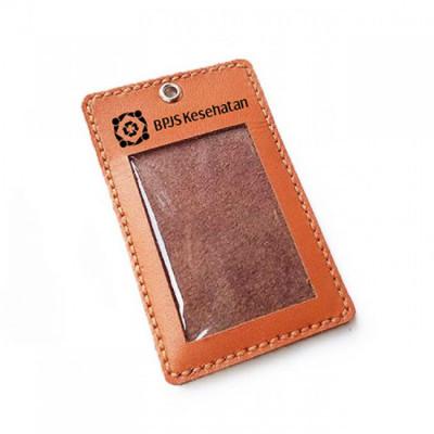 name-tag-kulit-asli-logo-bpjs-kesehatan-warna-tan-garansi-1-tahun-tali-id-card.-gantungan-id-card-