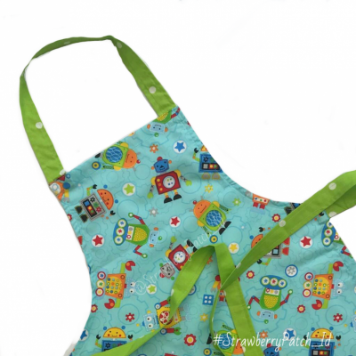 aproncelemek-memasak-anak-seri-robot-warna-toska