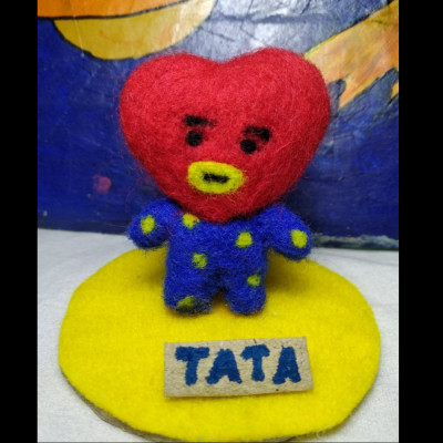 needle-felting-wool-tata-bt21