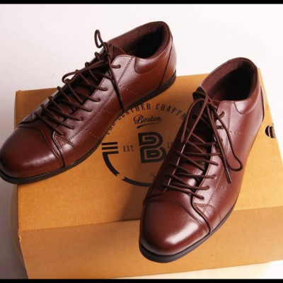 sepatu-sneakers-handmade-pria-casual-kulit-asli-boston-allen-coklat