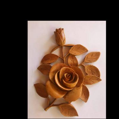 hiasan-dinding-frameless-motif-bunga-mawar