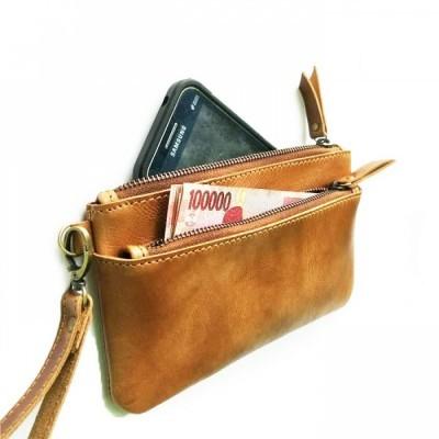 dompet-hp-kulit-asli-sapi-warna-tan-dompet-pouch.-pouch-kulit.-clutch-kulit-