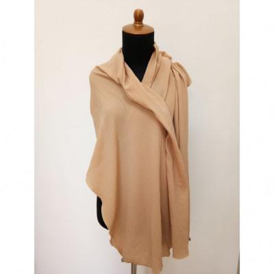 gesyal-syal-travelling-wanita-crepe-scarf-cream