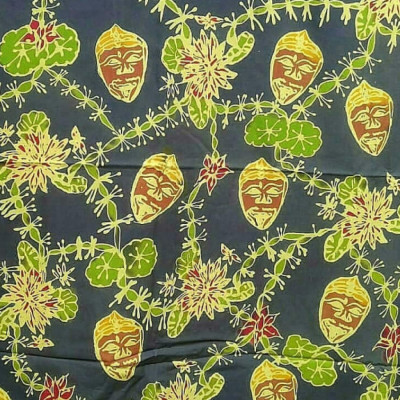 batik-topeng-malang-sulur-teratai-hijau-tua