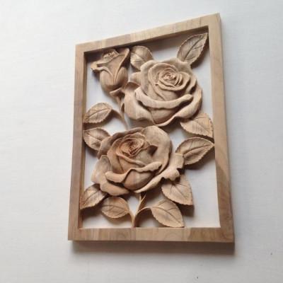 hiasan-dinding-kayu-jati-ukir-bunga-mawar