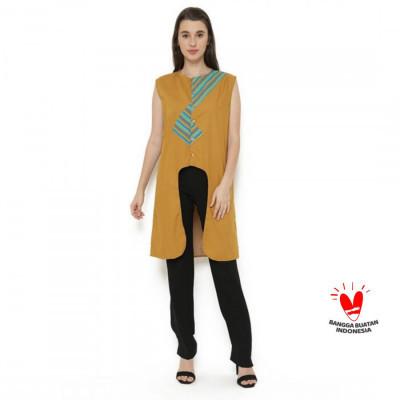 gesyal-crop-cardigan-lurik-vest-outer-wanita-kuning-mustard