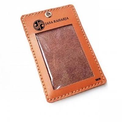name-tag-id-kulit-asli-logo-jasa-raharja-warna-tan-tali-id-card-